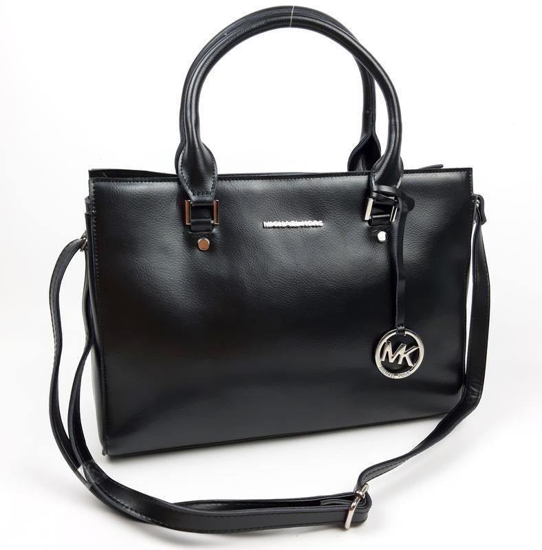 Кожаная большая женская сумка michael kors черная