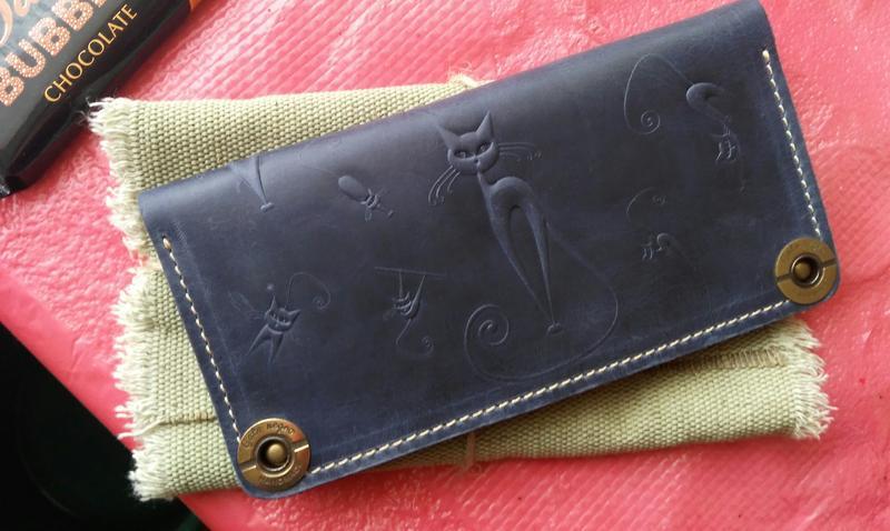 Женский кожаный кошелёк Catswill. Handmade. Эксклюзив!