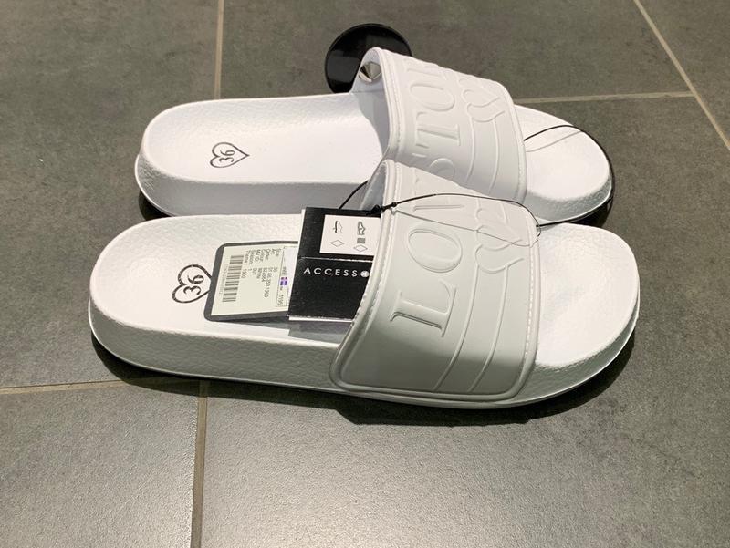 Белые пляжные шлёпанцы тапочки тапки amisu размеры 40 41