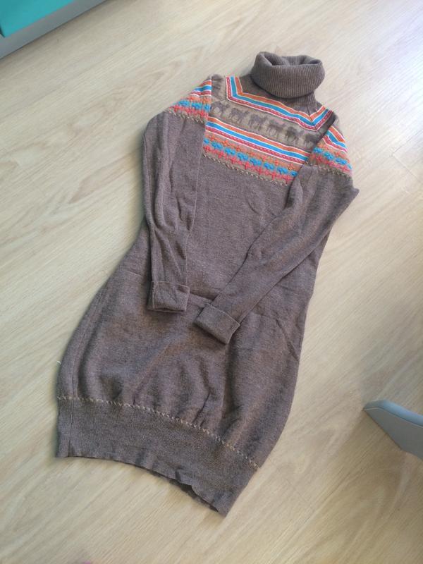 Стильная шерстяная туника платье  gant