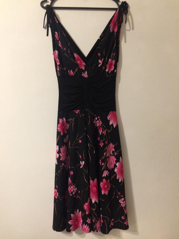 Kdk london платье сукня сарафан с цветочным принтом