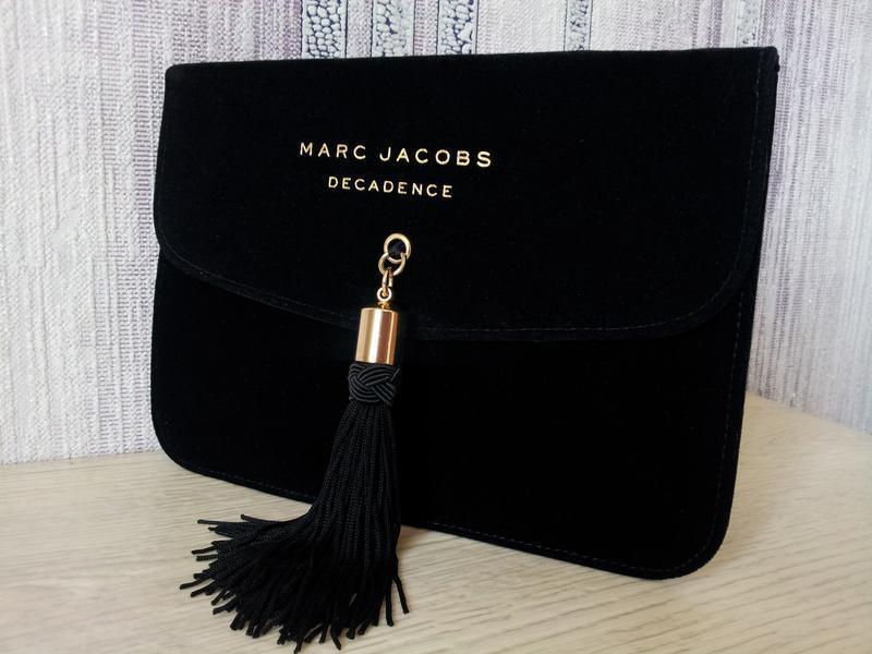 Брендовый клатч косметичка из бархата marc jacobs