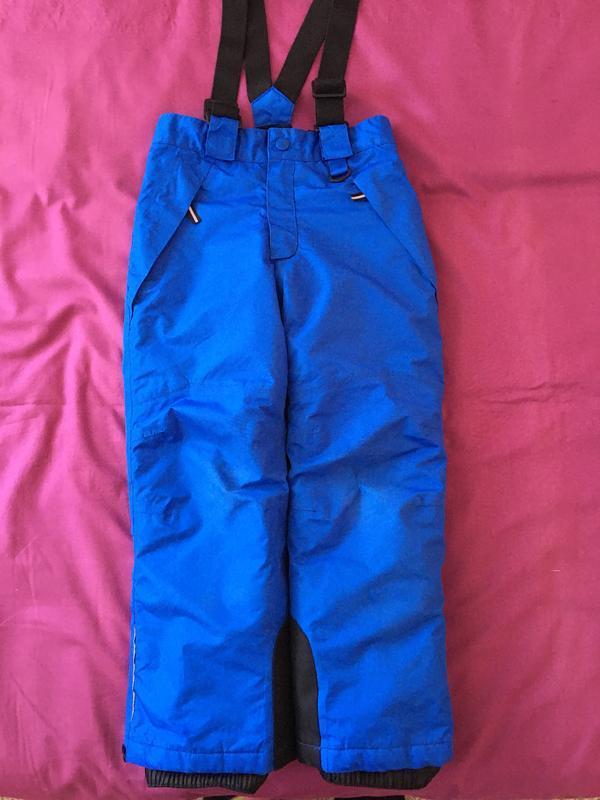 Зимние лыжные штаны полукомбинезон 110-116 см.