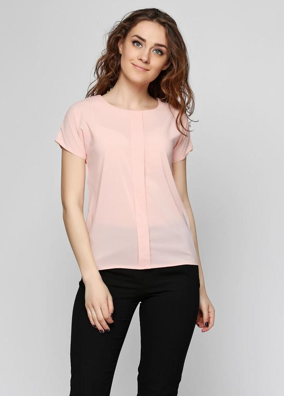 Базовая блуза нежного персиково-розового оттенка, р.наш 48-50