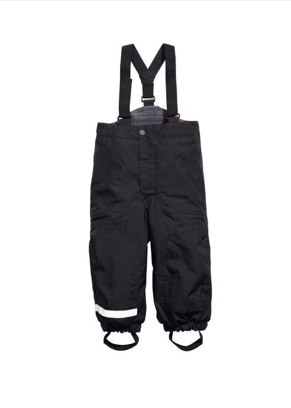 Зимние термо штаны ,полукомбинезон hm 👬 р 128 (6-7 лет)