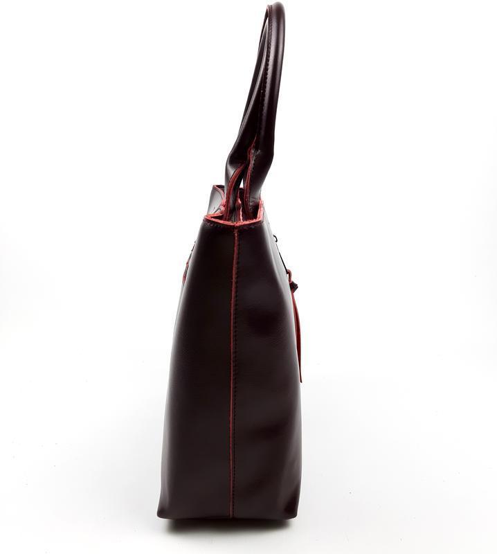 Женская кожаная сумка galanty бордовая - Фото 5