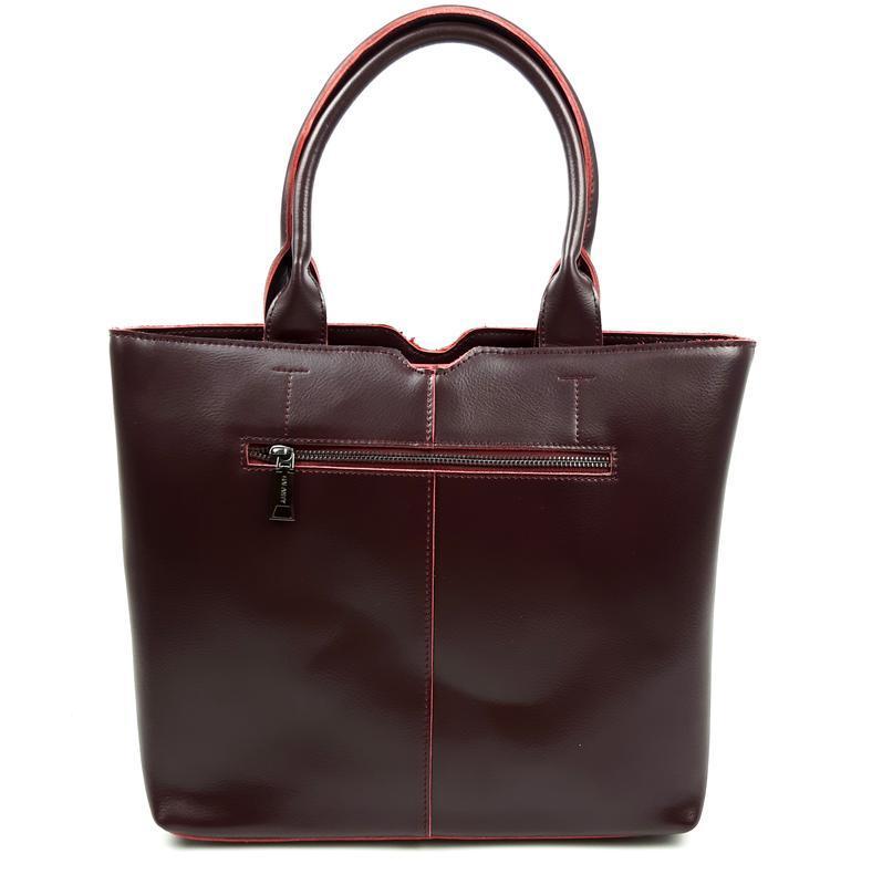 Женская кожаная сумка galanty бордовая - Фото 8