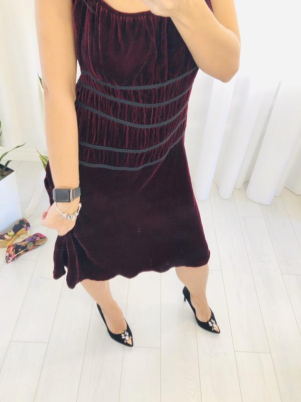 Велюровое шёлковое платье в цвете марсала blumarine
