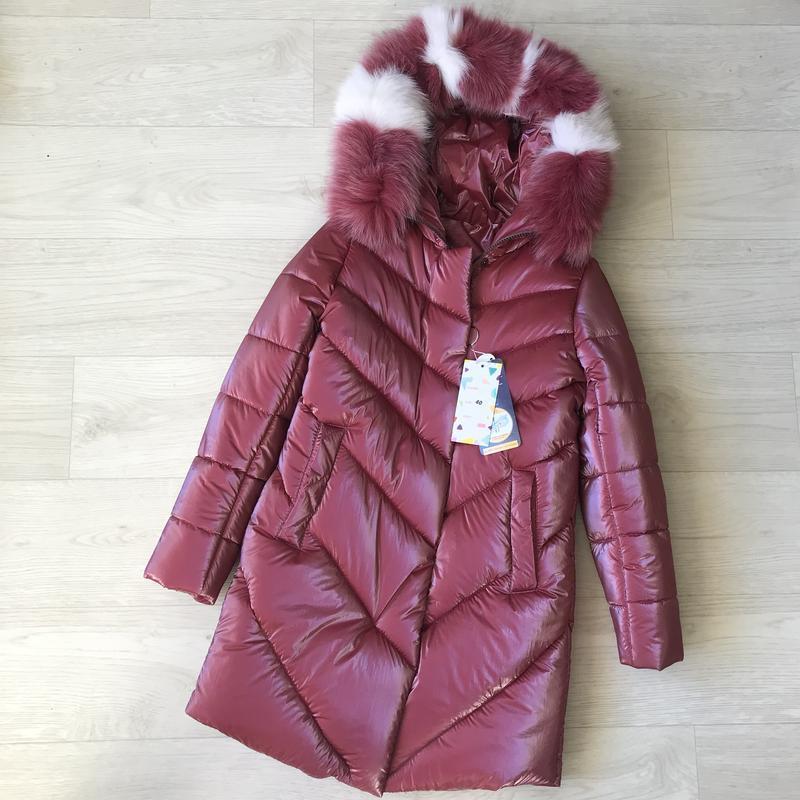 Красивое тёплое шикарное пальто для девочки