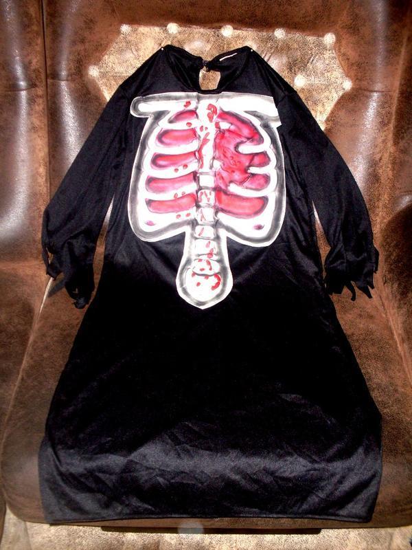 Маскарадный наряд на хэллоуин на 7-10 лет объемные кости