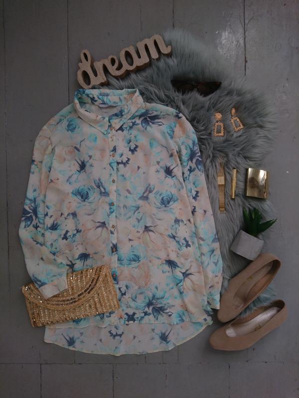 Стильная шифоновая блуза в цветочный принт №26max