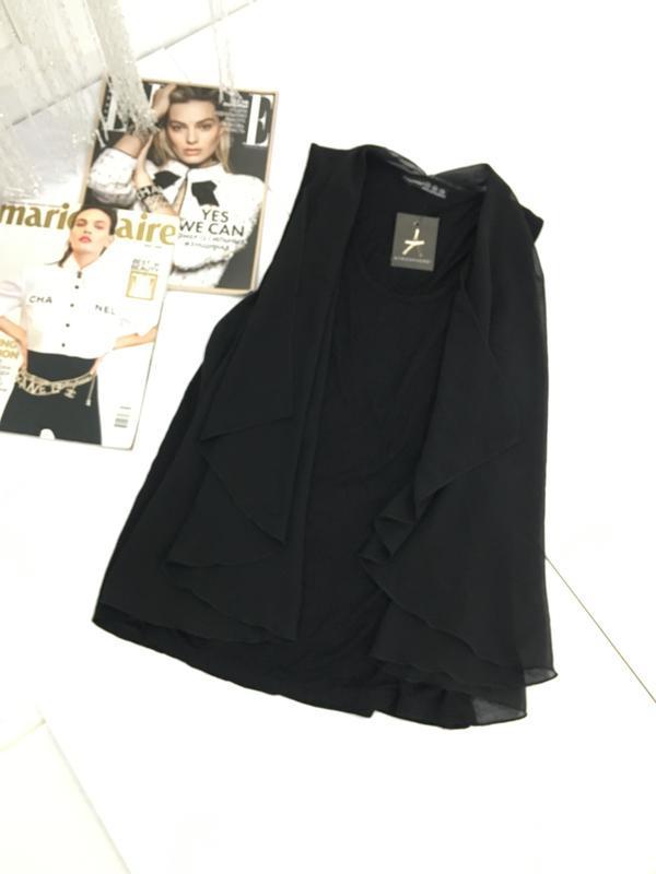 Новая блуза топ с имитацией накидки
