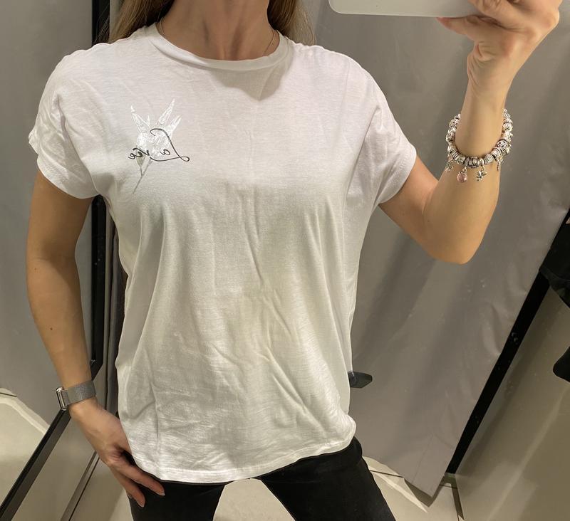 Белая хлопковая футболка reserved есть размеры