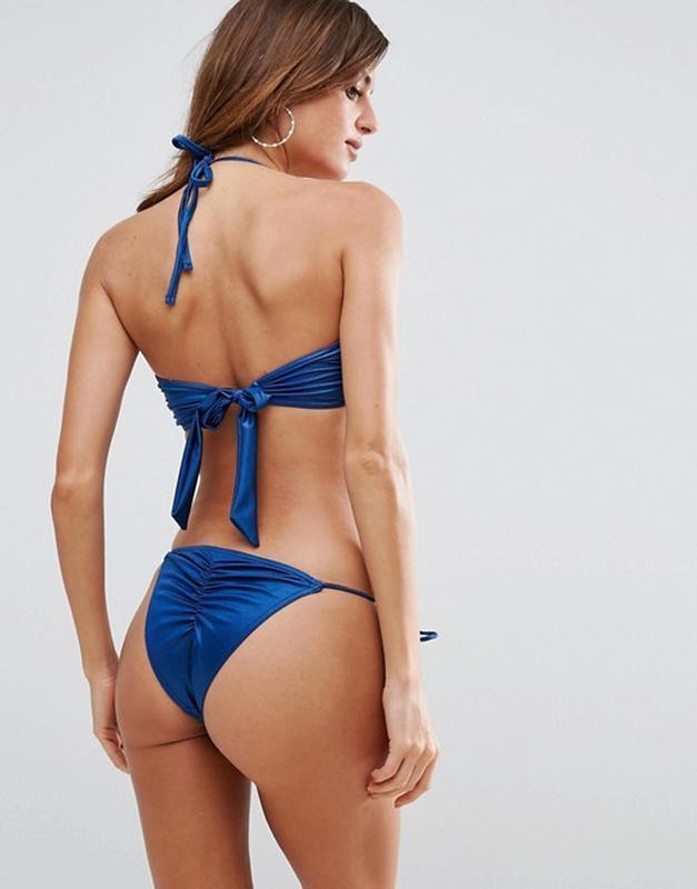 Плавки на завязках в синий цвет