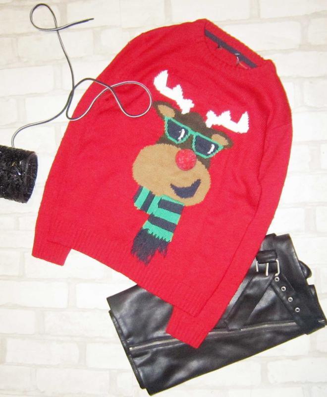 Крутецкий новогодний свитер, олененок
