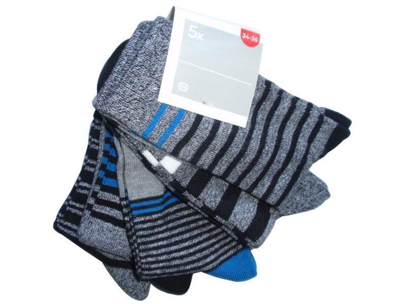 Набор 5 пар носки для мальчика хлопок c&a германия р. 34-36 но...