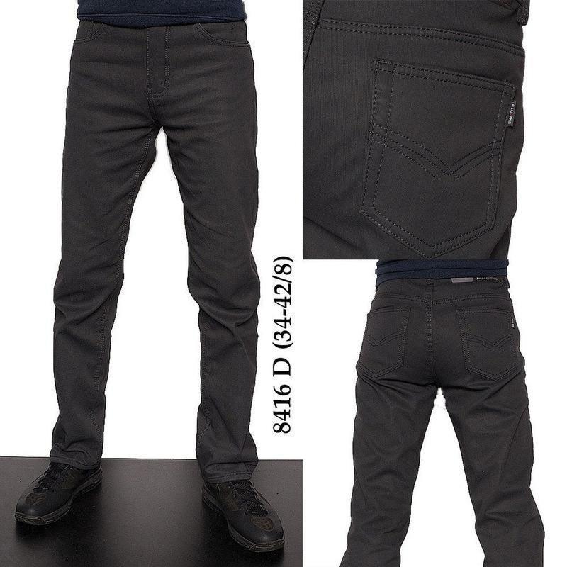Мужские джинсы на флисе.