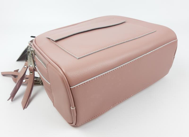 Женская кожаная сумка galanty розовая - Фото 6