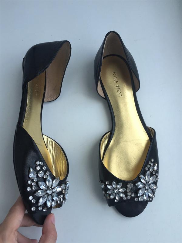 Кожаные туфли nine west балетки, 37 р. босоножки