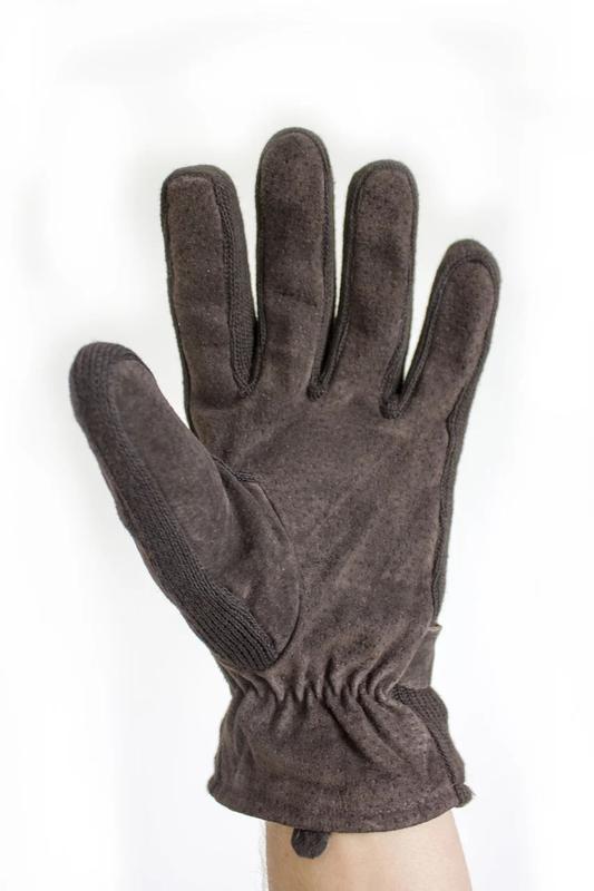 Мужские перчатки замшевые