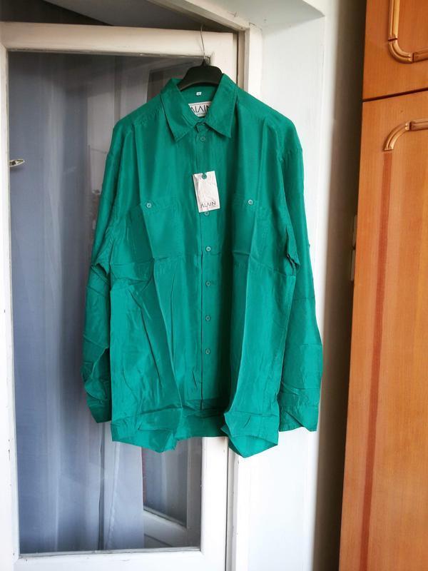 Шелковая рубашка бойфренд оверсайз унисекс 100% шелк