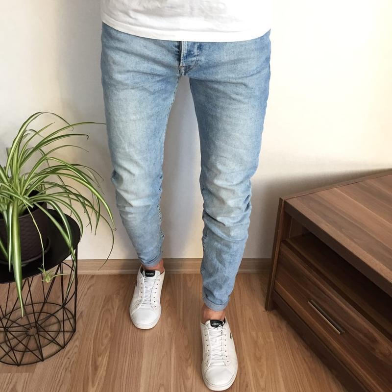 Стильные мужские зауженные джинсы h&m