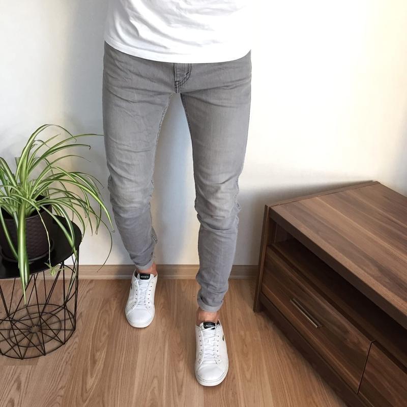Брендовые мужские зауженные джинсы levis 510