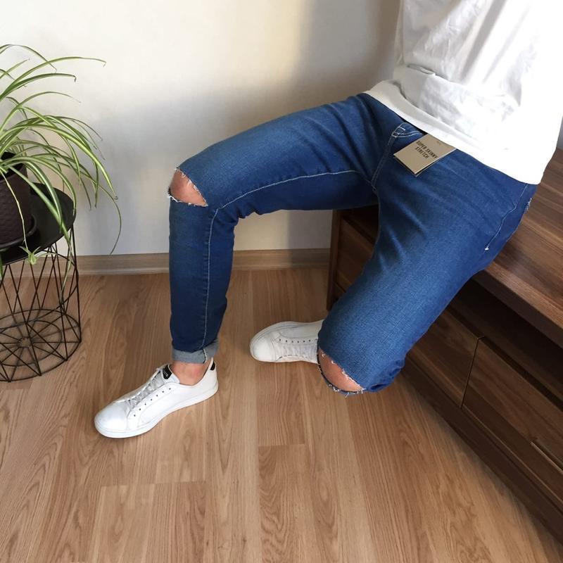 Нереально стильные мужские зауженные джинсы new look новые с б...