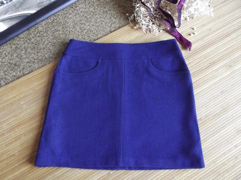Стильная теплота! шерстяная, аккуратная,синяя юбочка jake*s