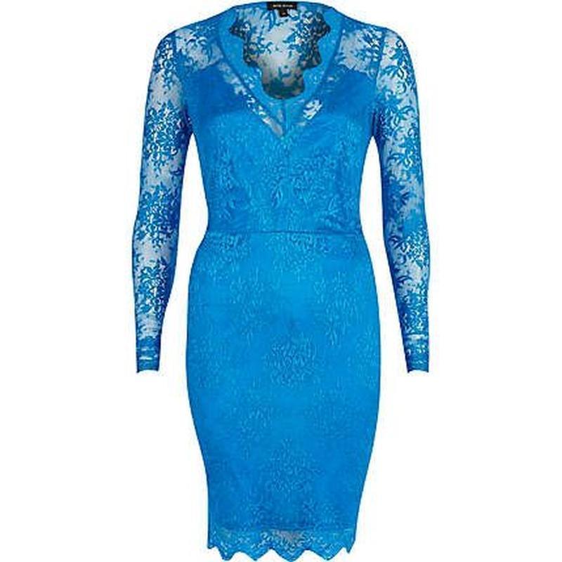 Невероятное яркое коктейльное кружевное миди платье №541 river...
