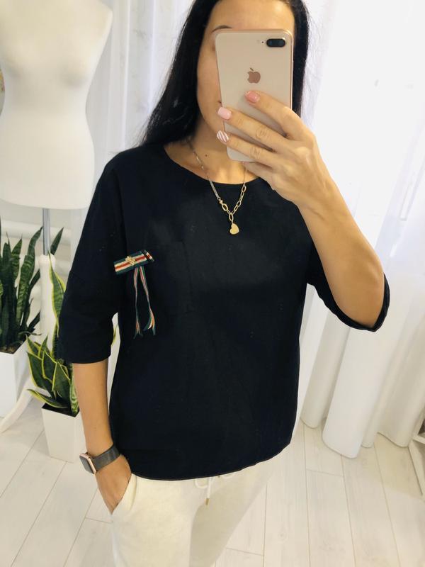 Стильная блузка рубаха с интересным рукавом льняная