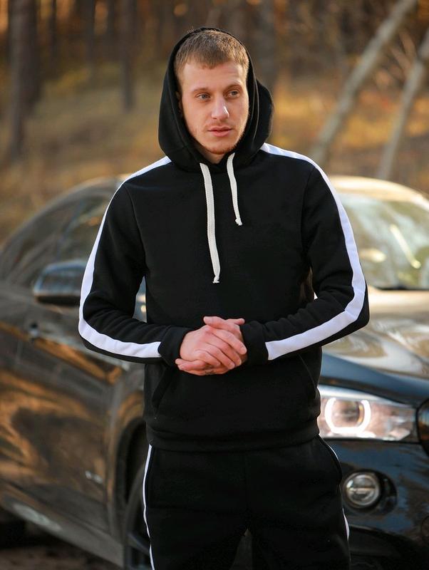 Спортивный костюм мужской теплый на флисе