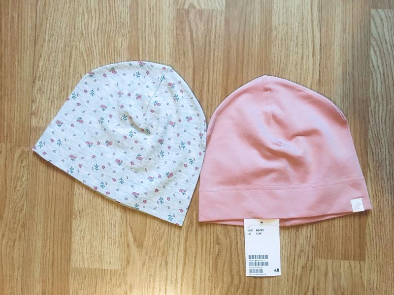 Фирменная шапка, шапочка для девочки h&m, комплект, р.1-2 г, 8...