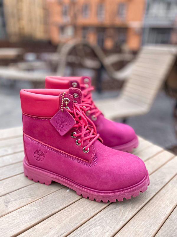 Женские зимние ботинки/ сапоги timberland purple fur 😍 (с мехом)