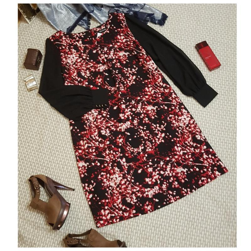 Платье с шифоновыми рукавами marisota большого размера