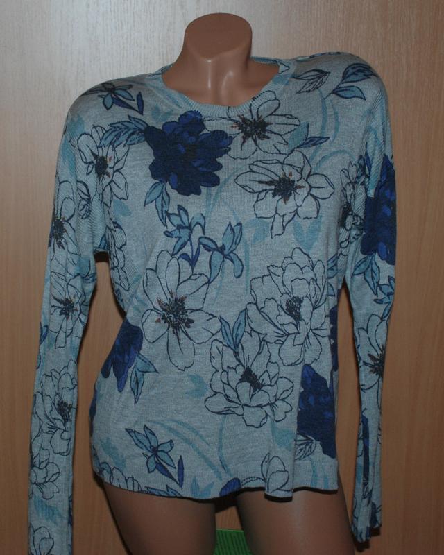 Кофточка в цветочный принт бренда marks & spencer / плечи при...