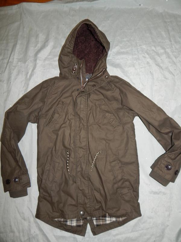 Куртка длинная пальто плащ парка модное на мальчика 13 лет 158...