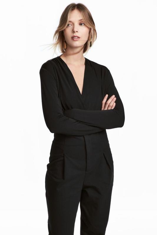 Роскошное боди-блузка с длинным рукавом h&m