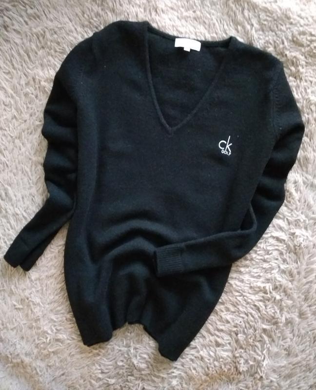 Джемпер,свитер в черном цвете от calvin klein,80% lambswoll