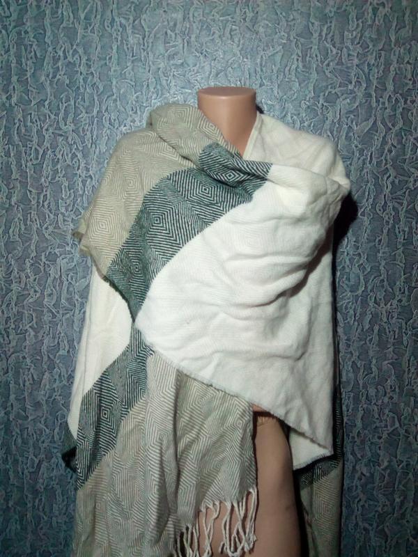 Мягусенькая накидка, пончо, шарф плед.