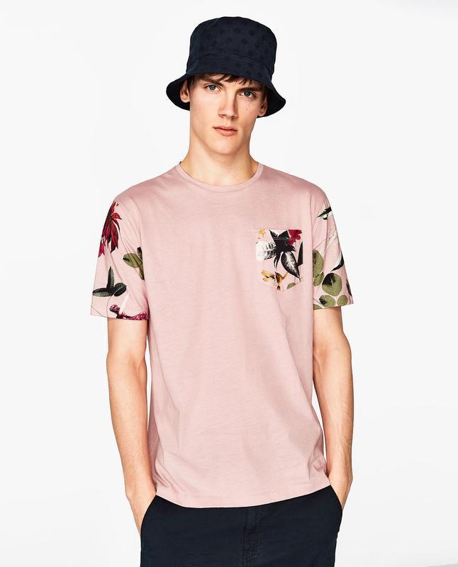 Чоловіча футболка з принтом zara