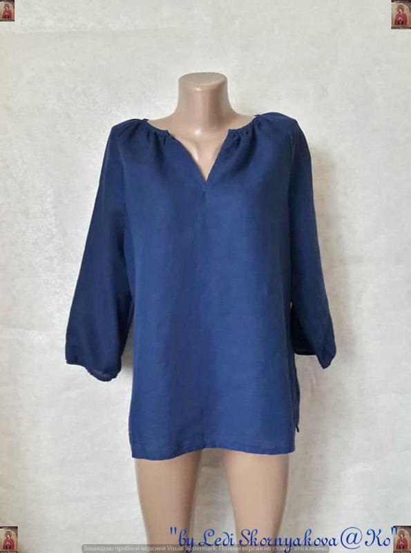 """Фирменная marks & spenser блуза на 62% лён и 38%хлопок цвет """"е..."""