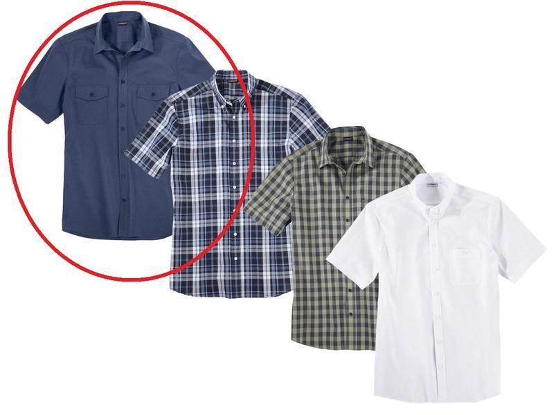 Мужская рубашка синяя р. л