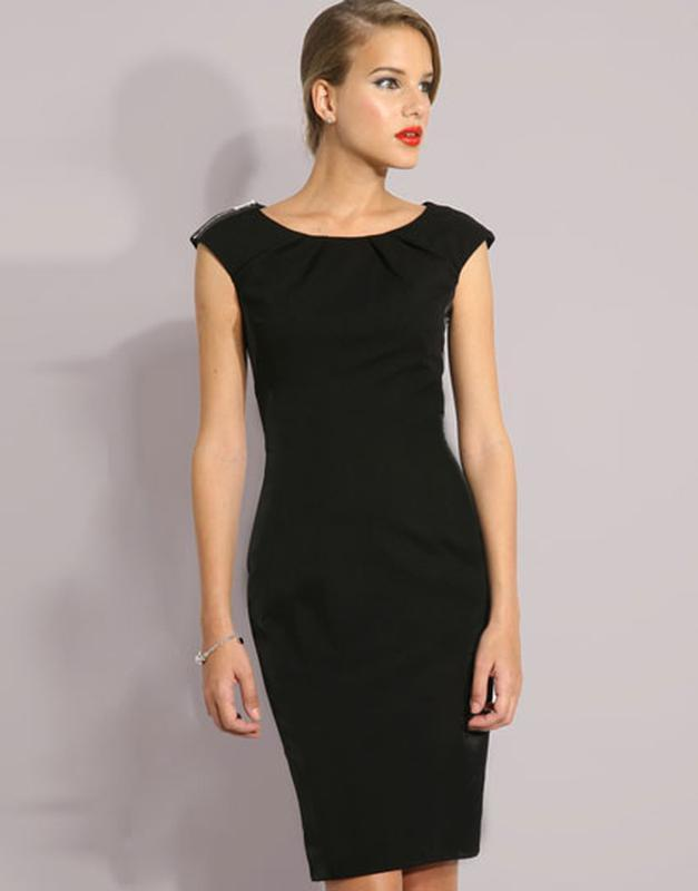 Стильное классическое платье футляр размер 12-14 (44-46)