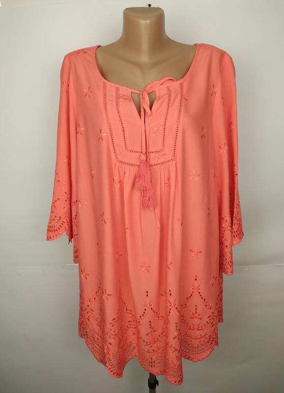 Блуза новая красивая натуральная батистовка большой размер uk ...