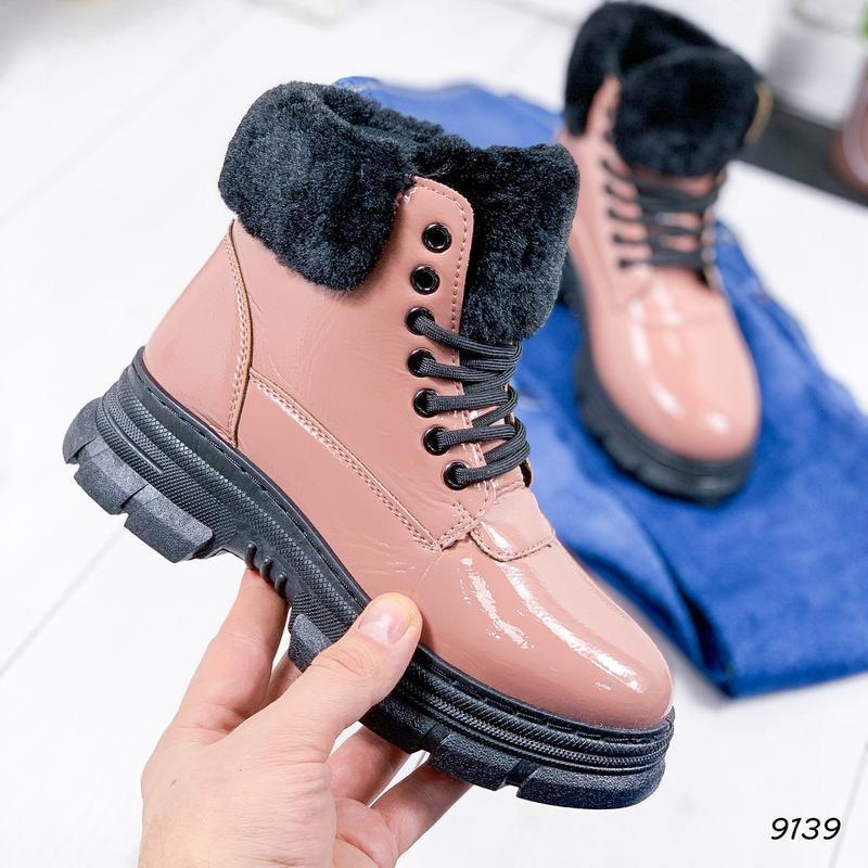 ❤ женские пудровые зимние ботинки сапоги полусапожки ботильоны...