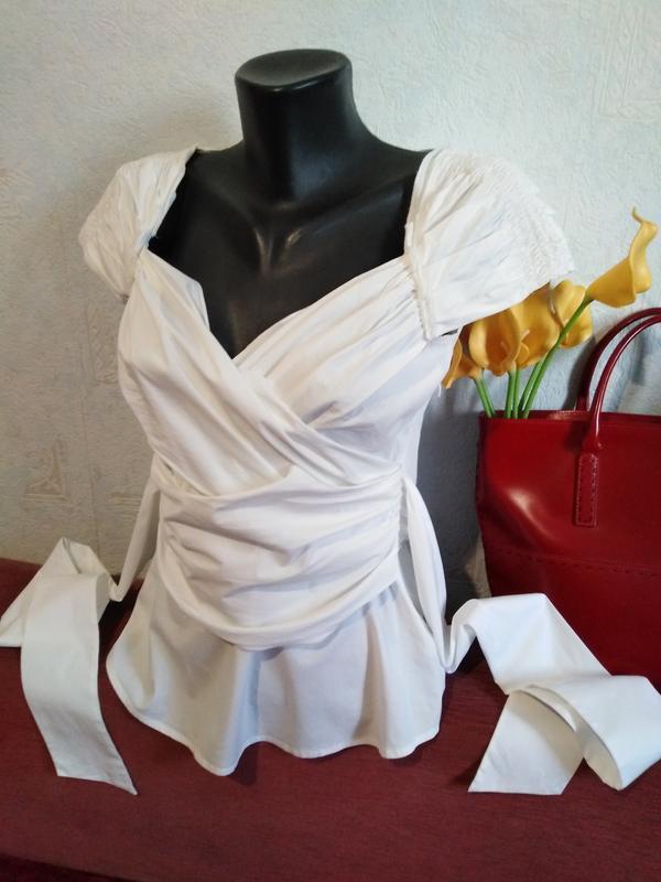 Дизайнерская блузочка, красивая драпировка, bcbg maxazria