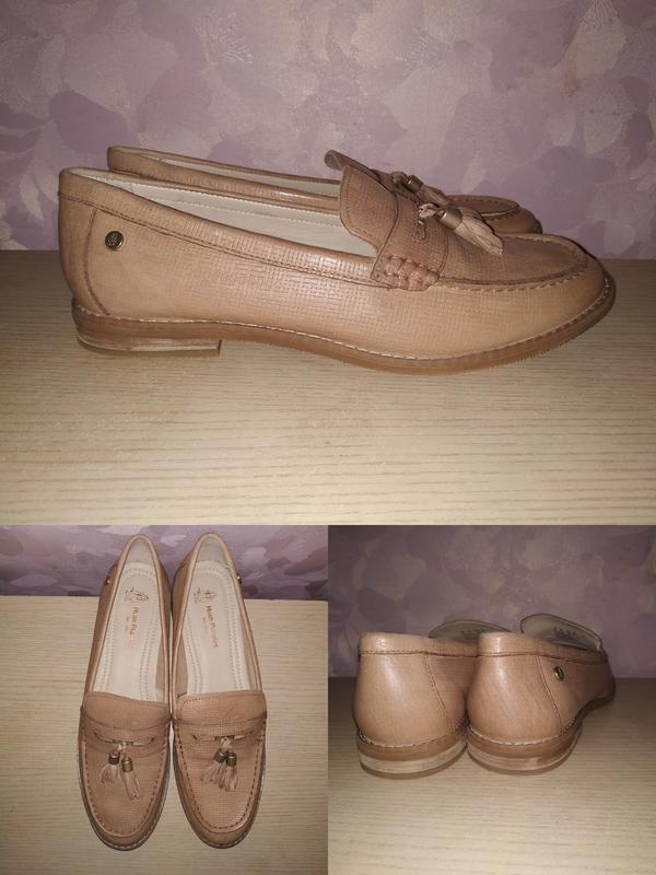 Лоферы 43-44 р туфли  кожаные большой размер