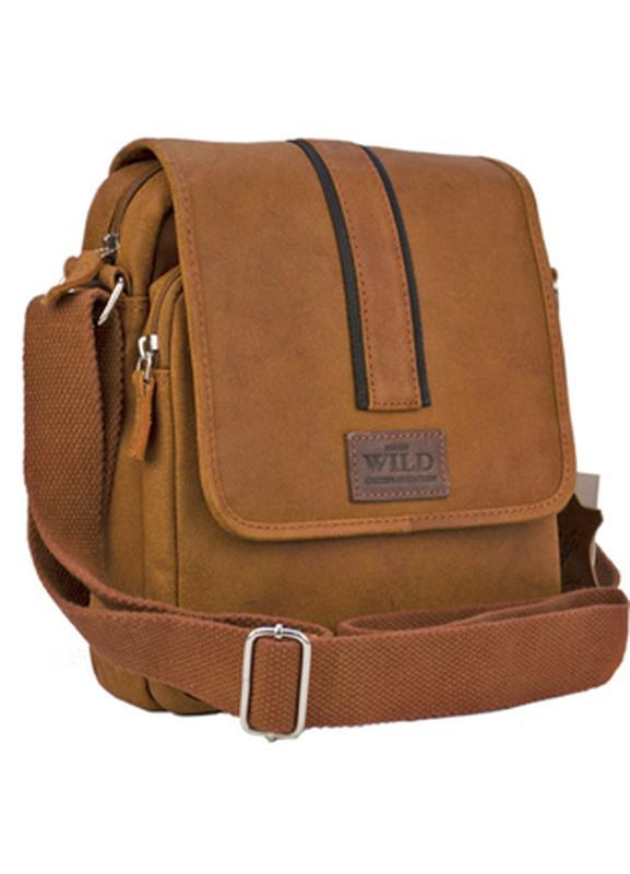 Чоловіча сумка-планшет always wild коричнева натуральна шкіра