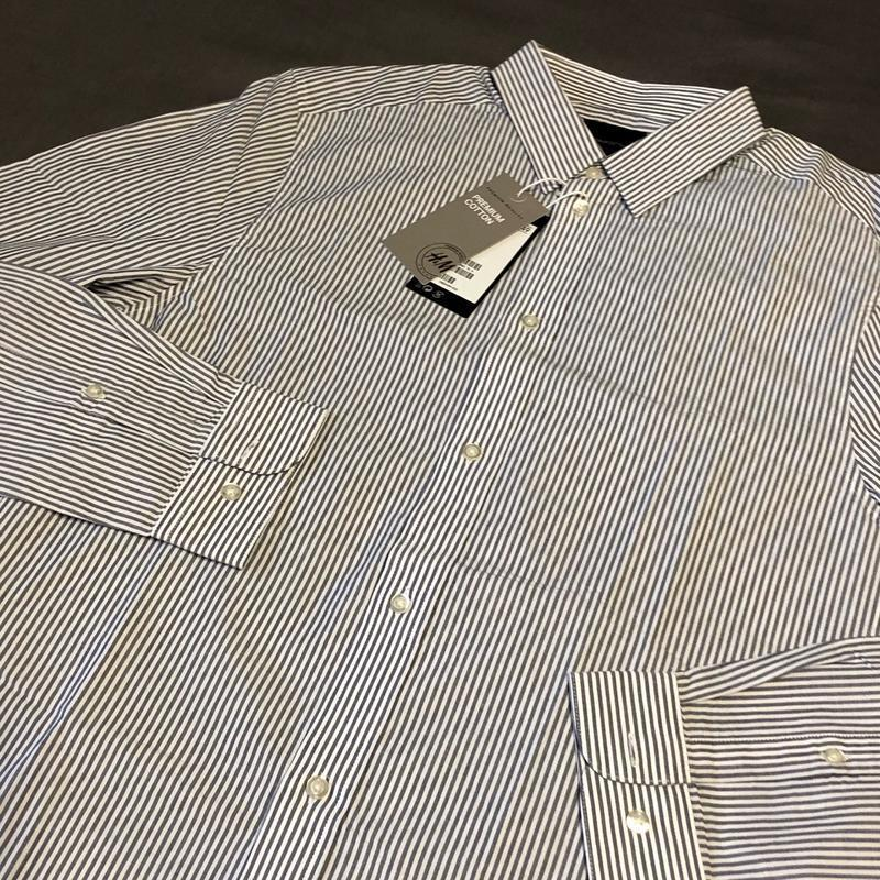 Полосатая рубашка h&m premium quality !